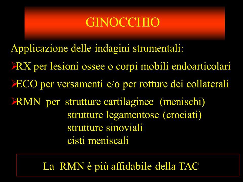 GINOCCHIO Applicazione delle indagini strumentali: