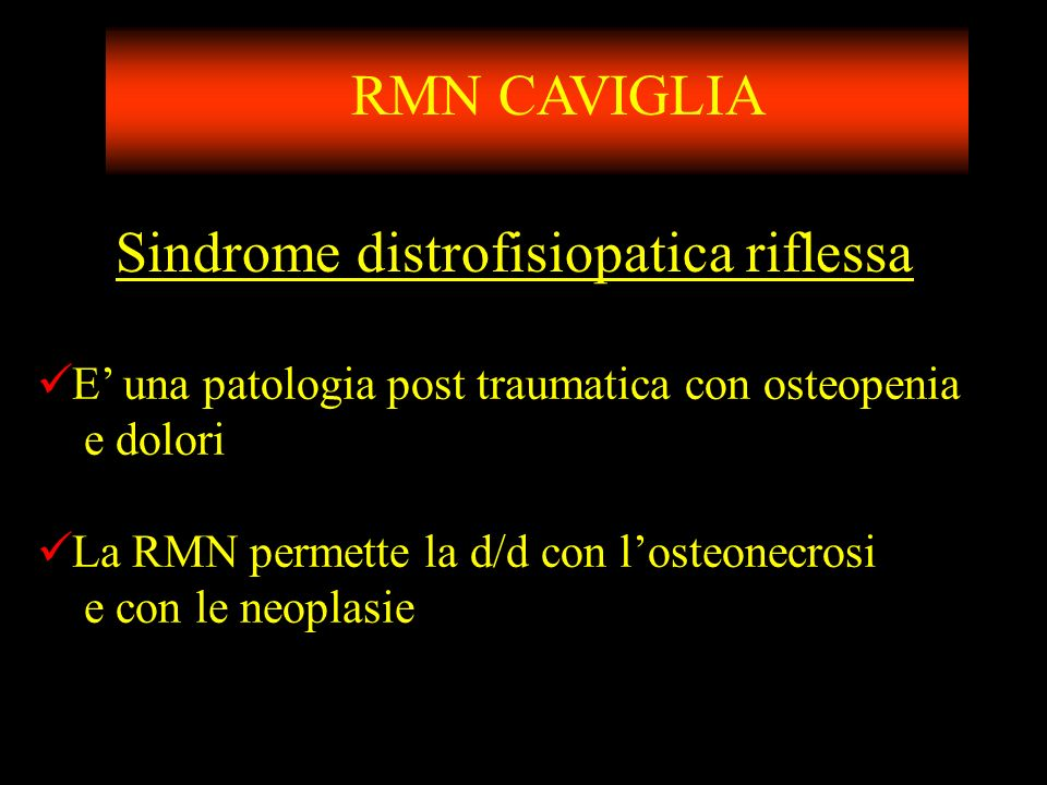 Sindrome distrofisiopatica riflessa