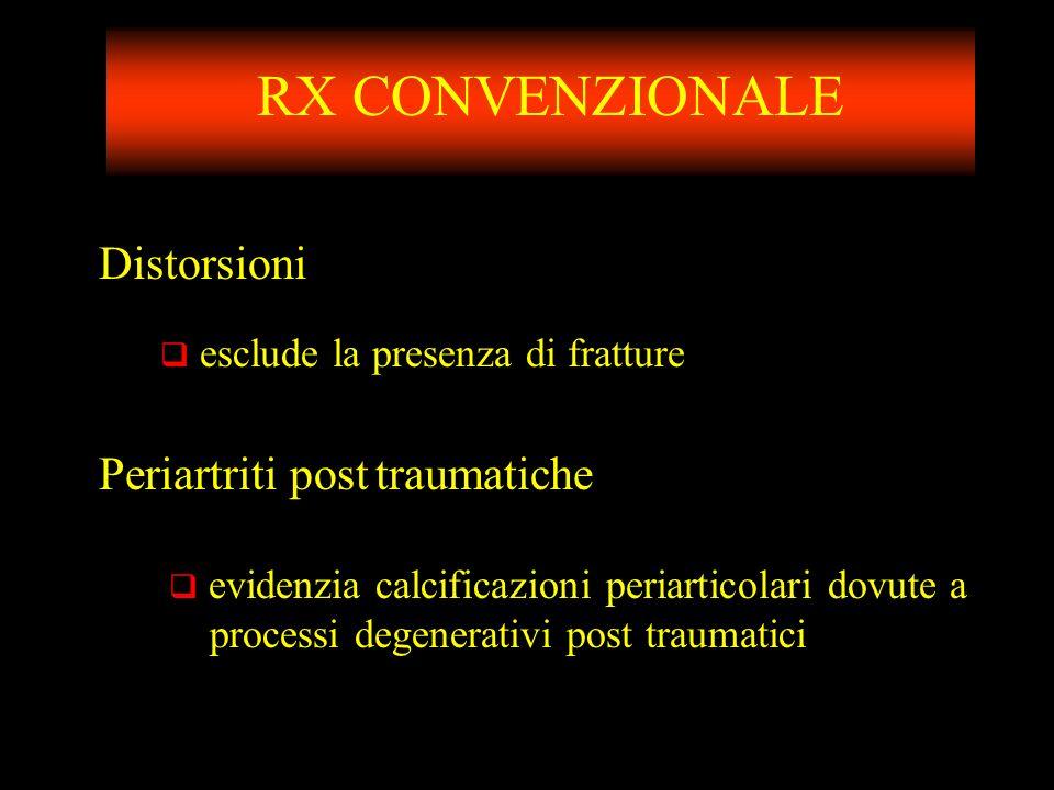 RX CONVENZIONALE Distorsioni Periartriti post traumatiche