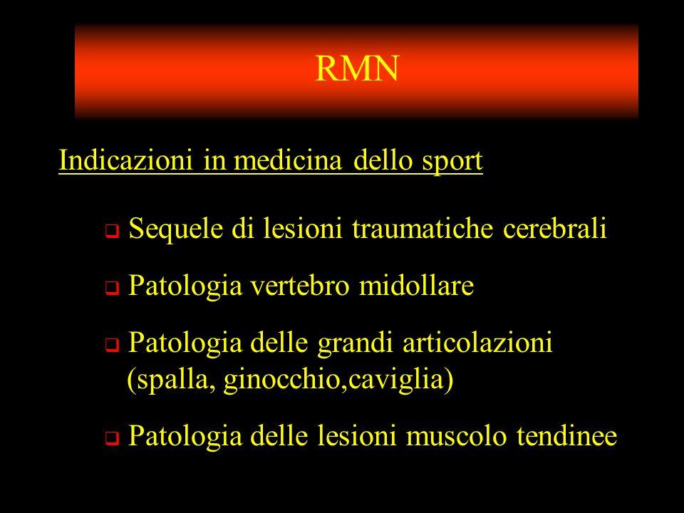 RMN Indicazioni in medicina dello sport