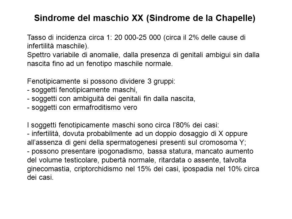 Sindrome del maschio XX (Sindrome de la Chapelle)