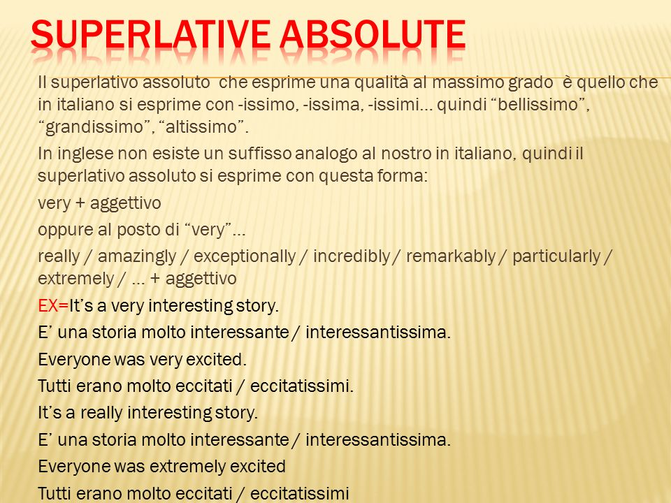 Comparative and superlative ppt video online scaricare for Bellissimo in inglese