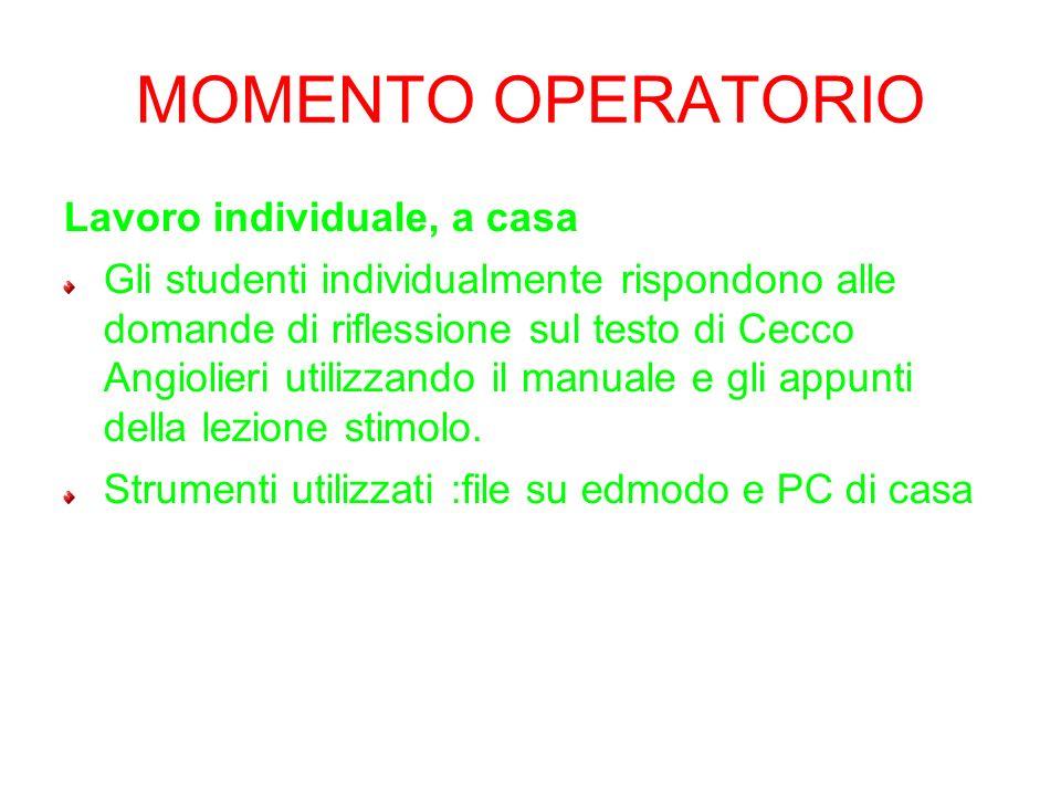 Proposta di eas letteratura italiana classe iii classico - E il momento di comprare casa ...