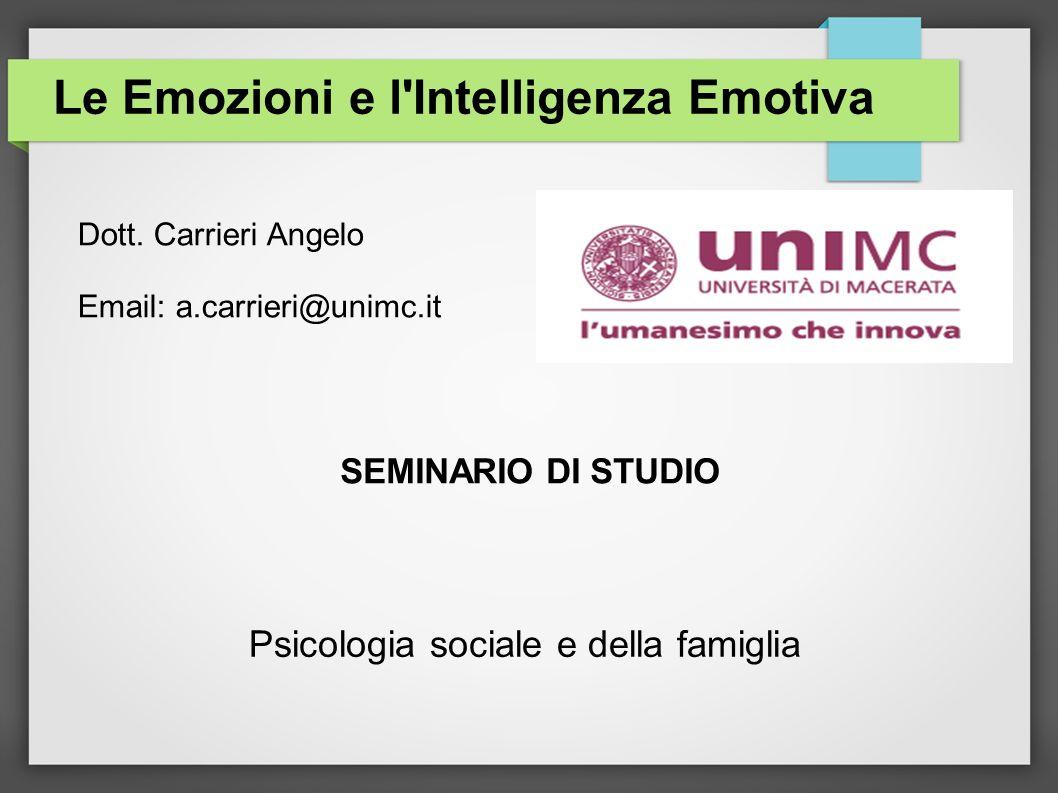 Le Emozioni e l Intelligenza Emotiva