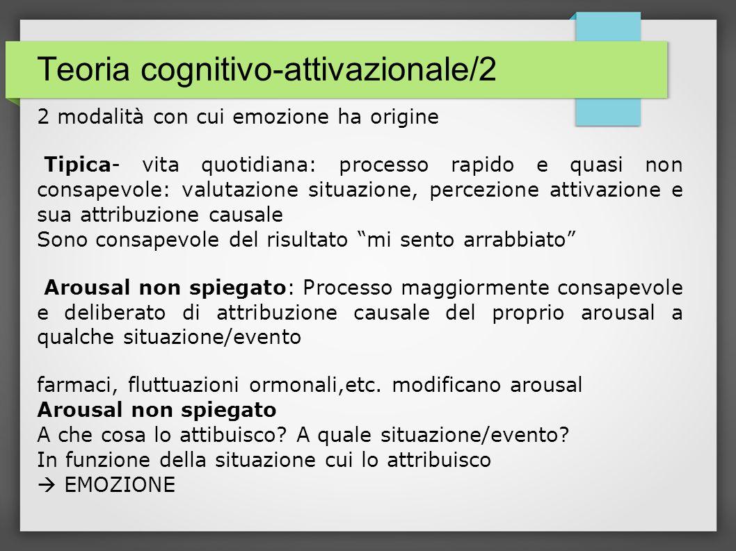 Teoria cognitivo-attivazionale/2