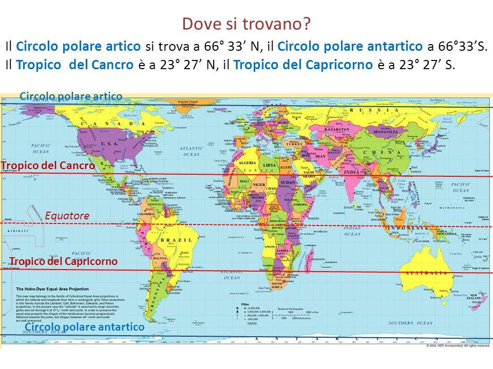 Tropico del Capricorno Circolo polare antartico