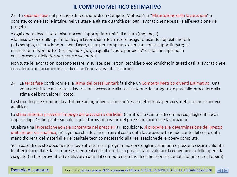 Modulo 2 gli elaborati del progetto esecutivo ppt scaricare - Computo metrico estimativo esempio casa ...