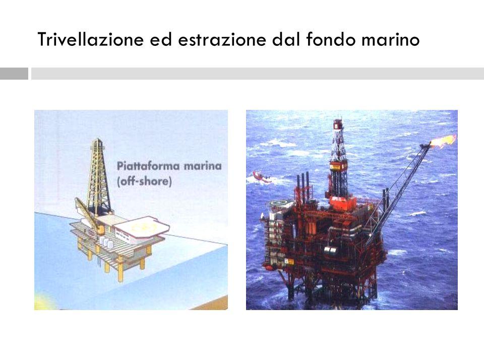 Trivellazione ed estrazione dal fondo marino