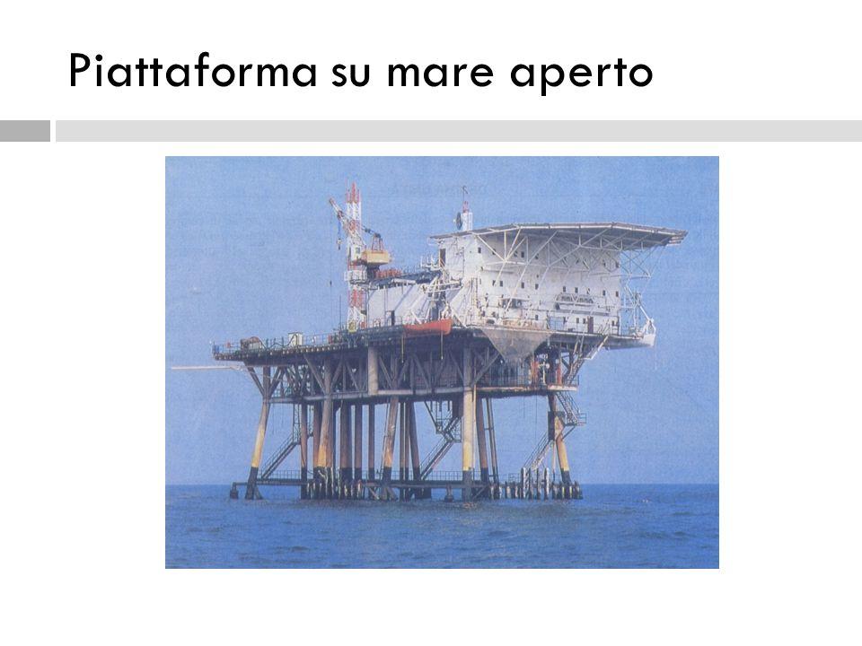 Piattaforma su mare aperto
