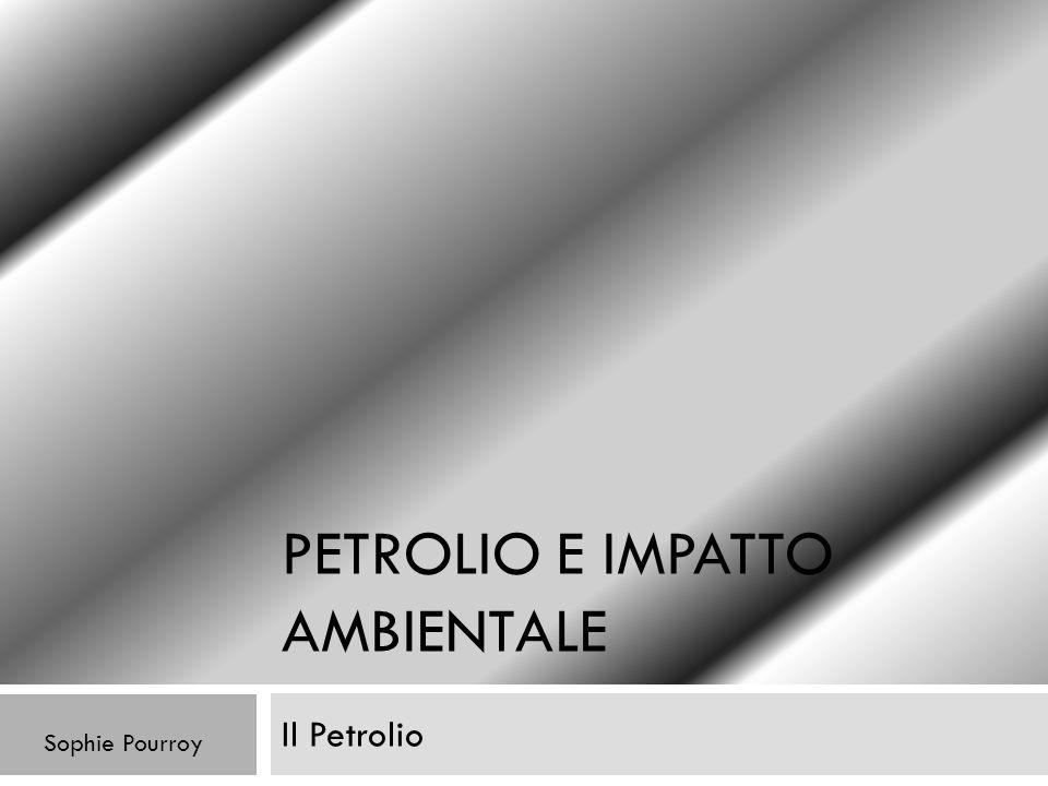 Petrolio e impatto ambientale