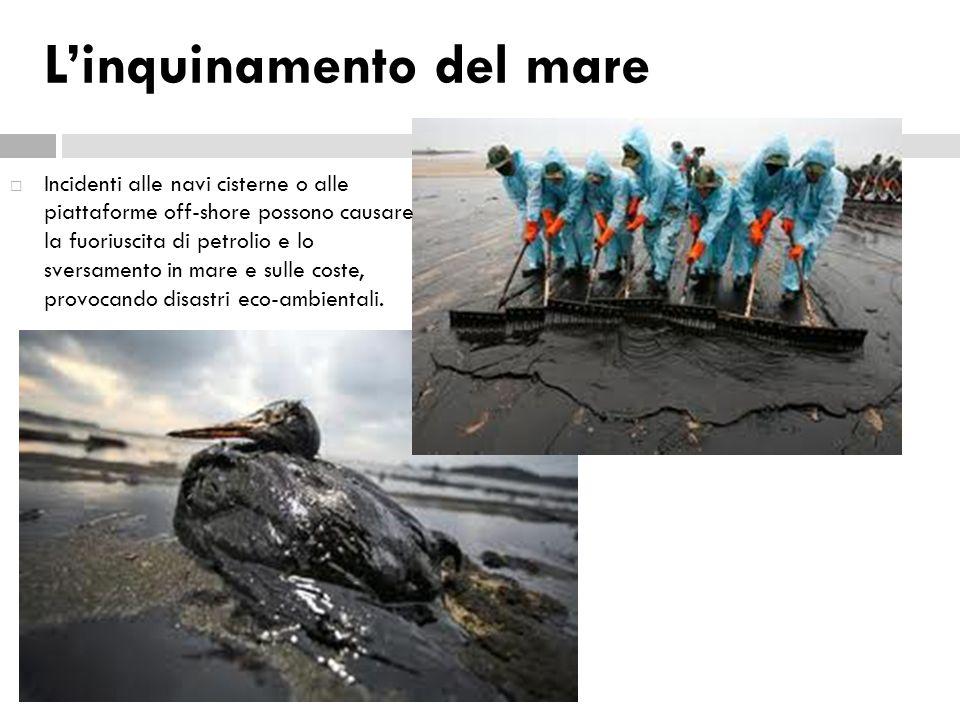 L'inquinamento del mare