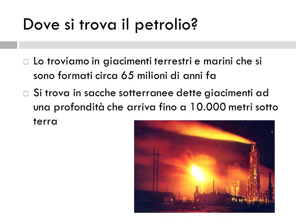 Dove si trova il petrolio
