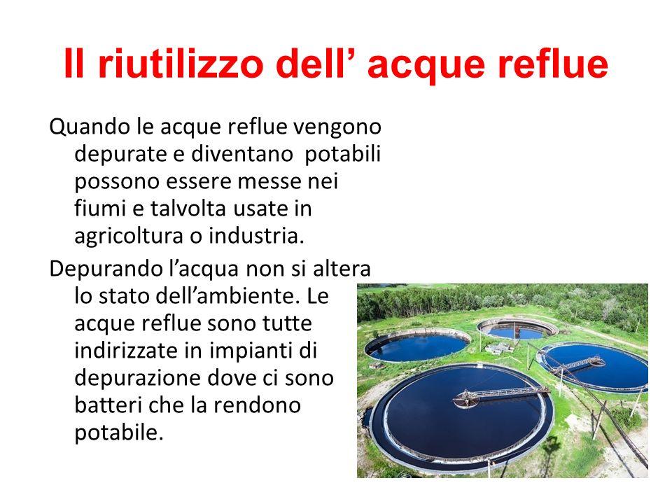 Il riutilizzo dell' acque reflue