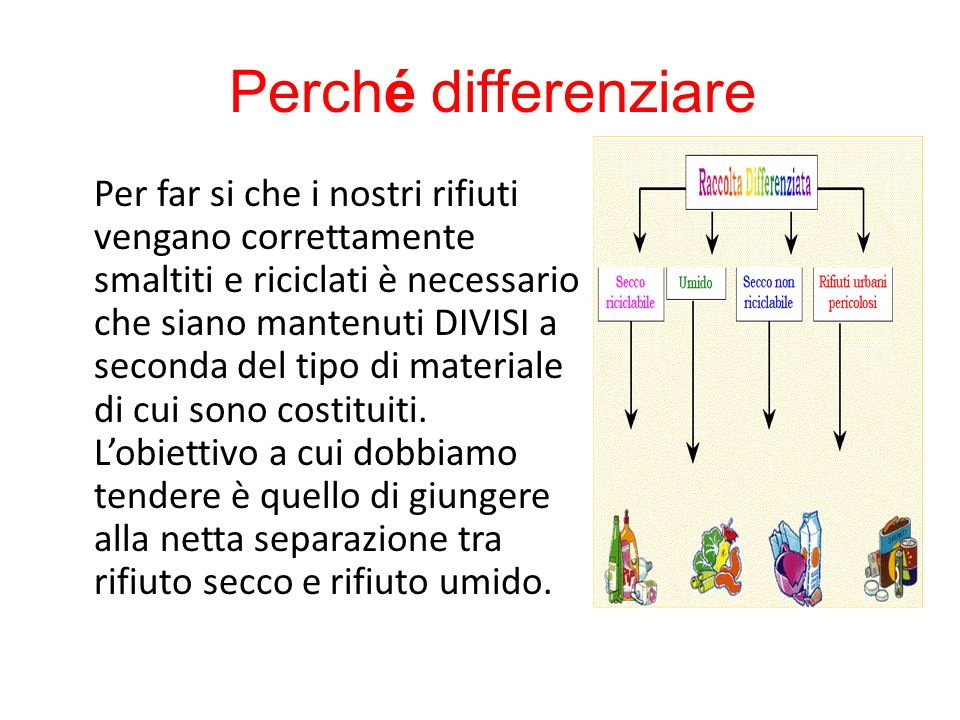 Perché differenziare