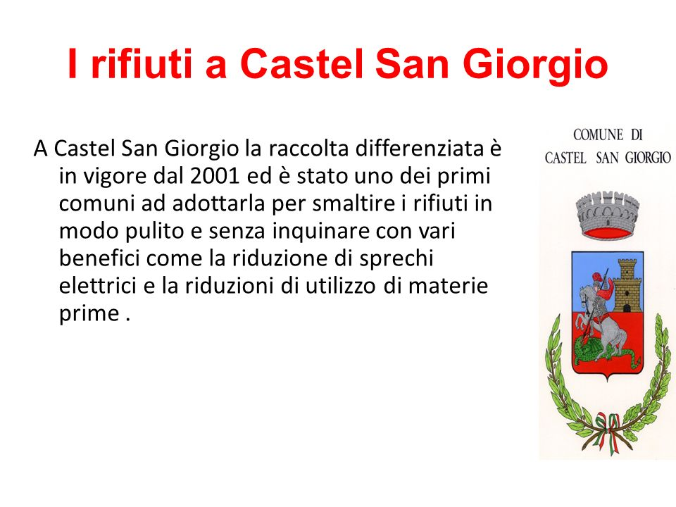 I rifiuti a Castel San Giorgio