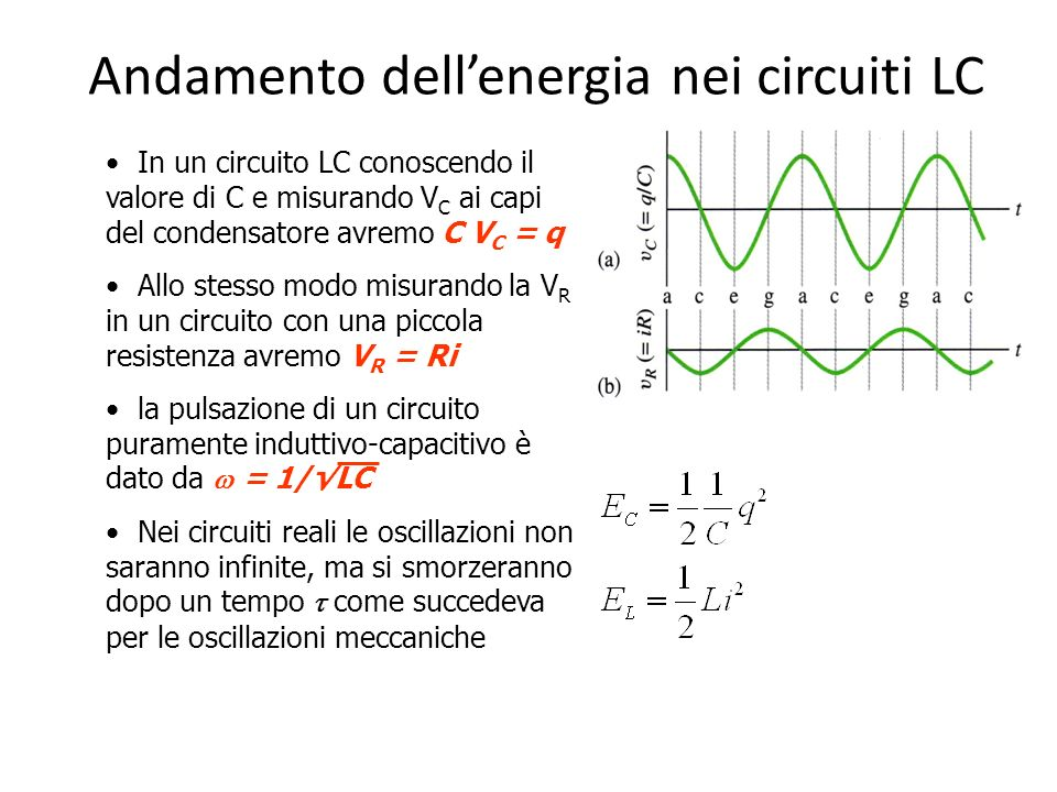 Circuito Lc : La legge di faraday neumann lenz e l induttanza ppt