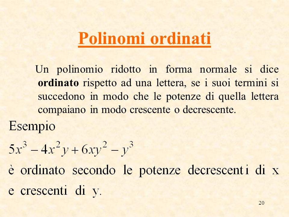 Polinomi ordinati