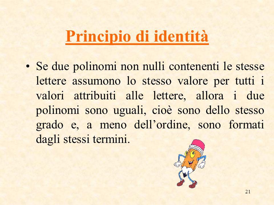Principio di identità