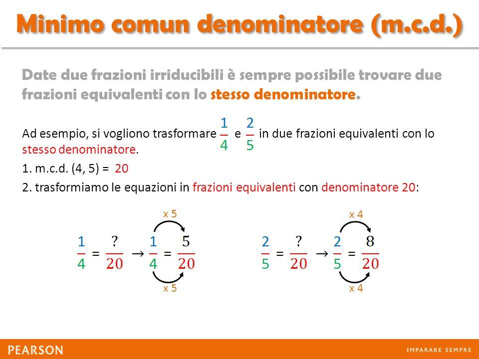 Minimo comun denominatore (m.c.d.)