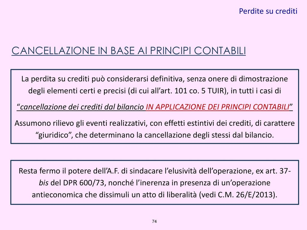 Taranto novembre 2016 il nuovo bilancio di esercizio alla - Art 16 bis del tuir ...