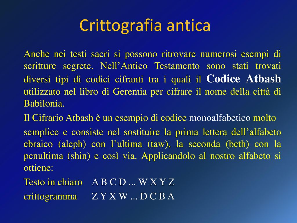 Crittografia il termine crittografia deriva dal greco - Testo prima o poi gemelli diversi ...