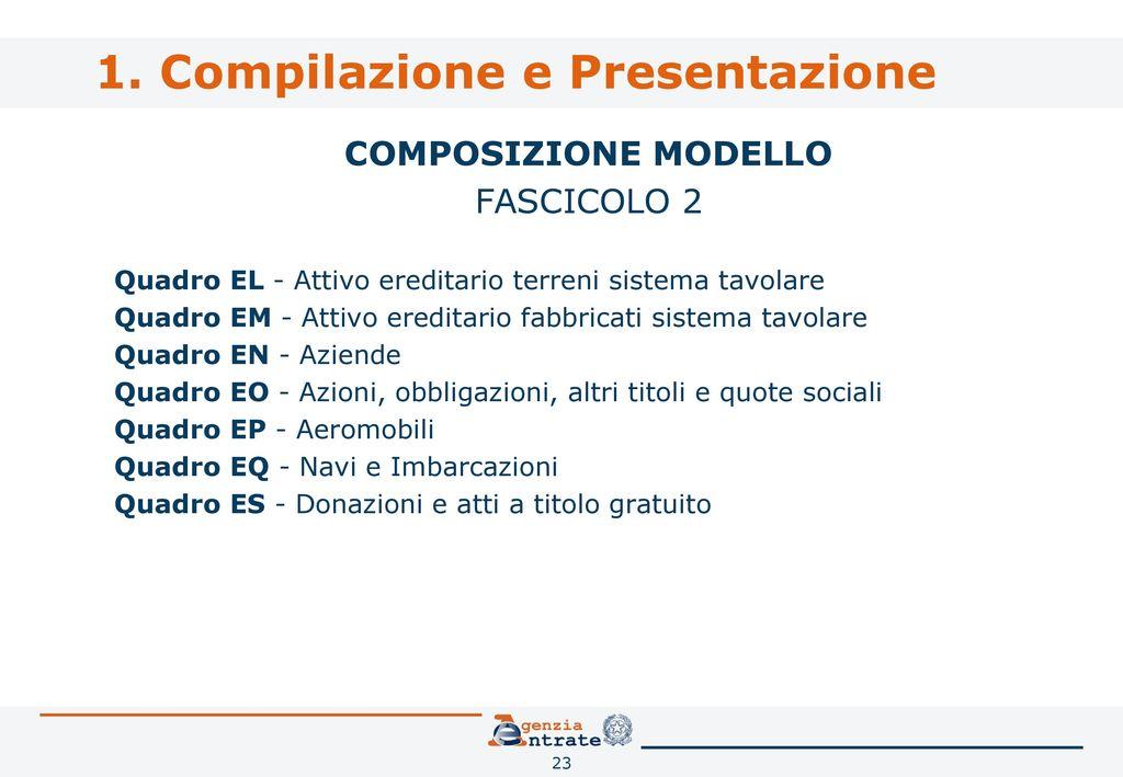 Dichiarazione di successione e domanda di volture - Sistema catasto tavolare elenco comuni ...
