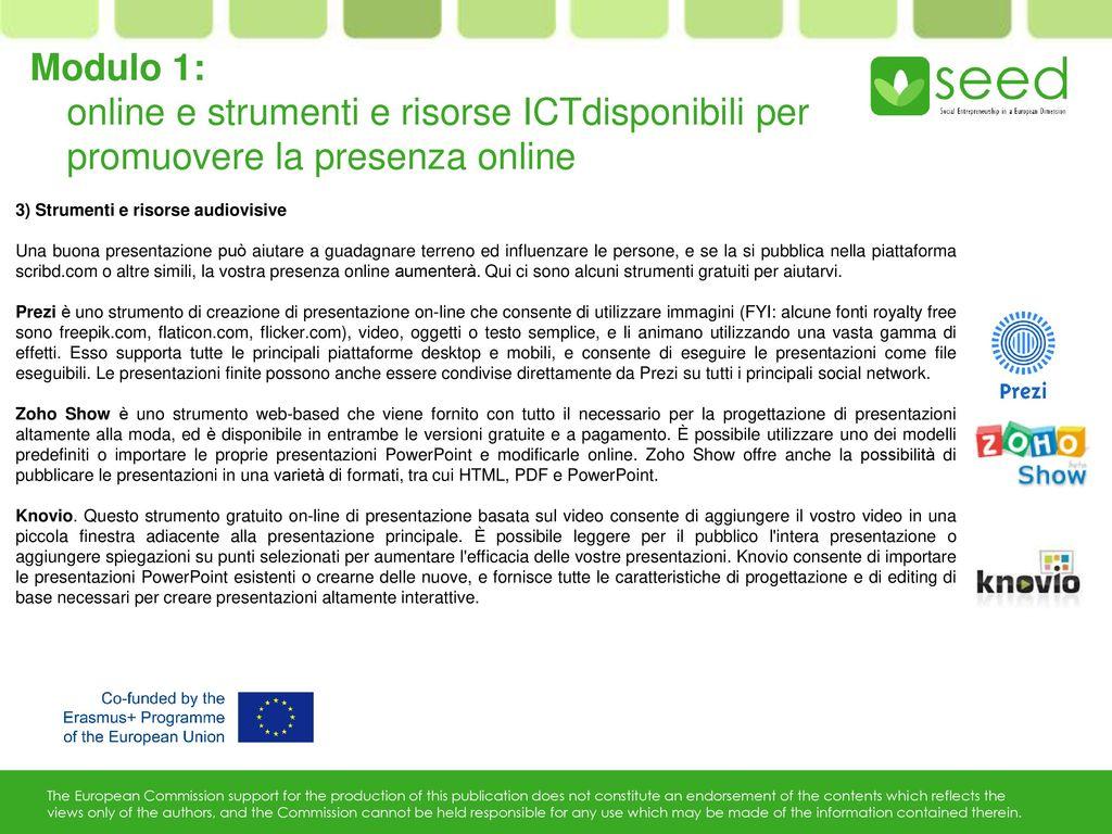 La comunicazione online per le imprese sociali ppt scaricare for Software di progettazione di mobili gratuiti online