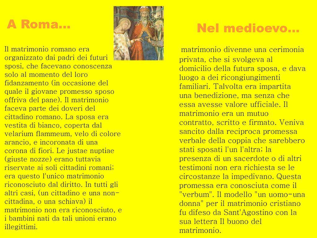 Matrimonio Diritto Romano : Il matrimonio e l unione di due diversità affinchè una