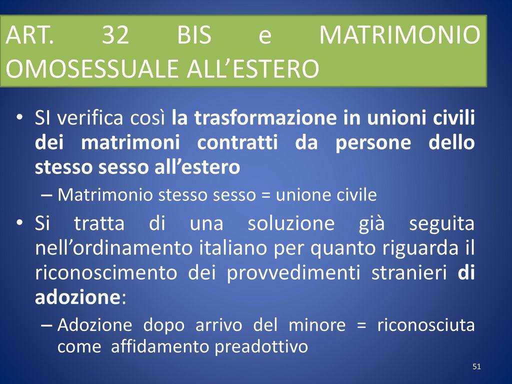 Matrimonio Omosessuale In Italia : Diritto internazionale privato e dei contratti ppt scaricare