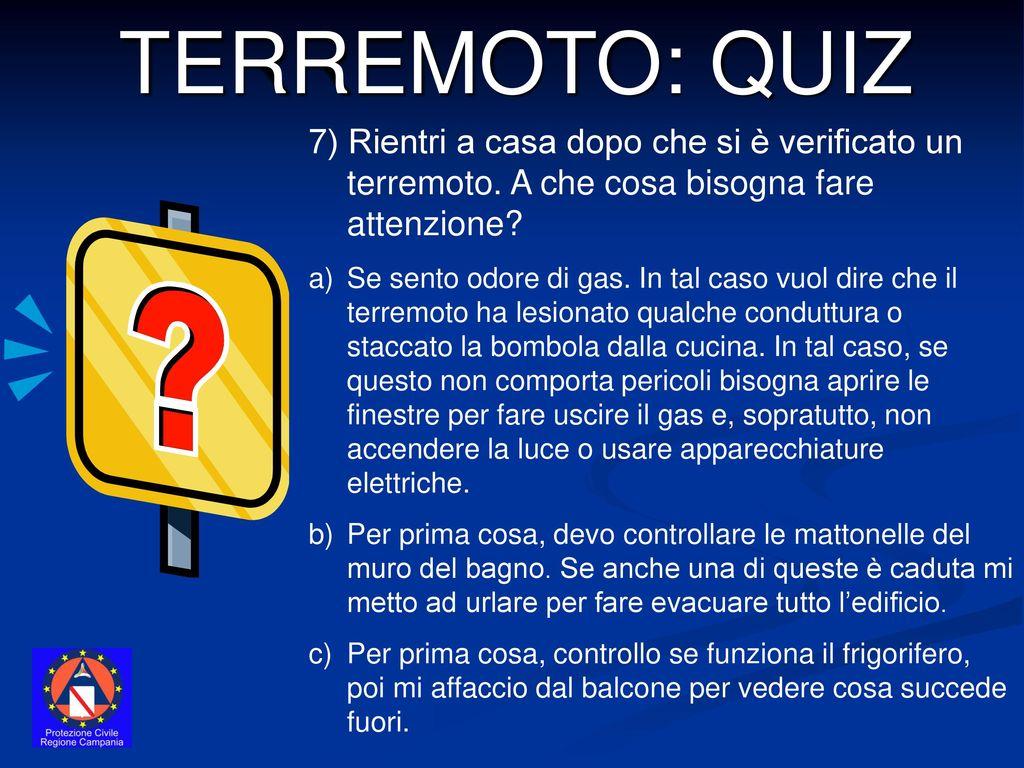Terremoto quiz progetto educare alla sicurezza ppt - Cosa controllare prima di comprare casa ...