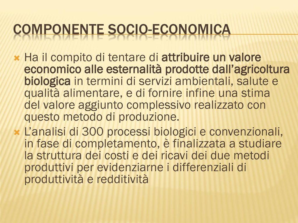 Agricoltura biologica e agricoltura convenzionale ppt for Planimetrie efficienti in termini di costi