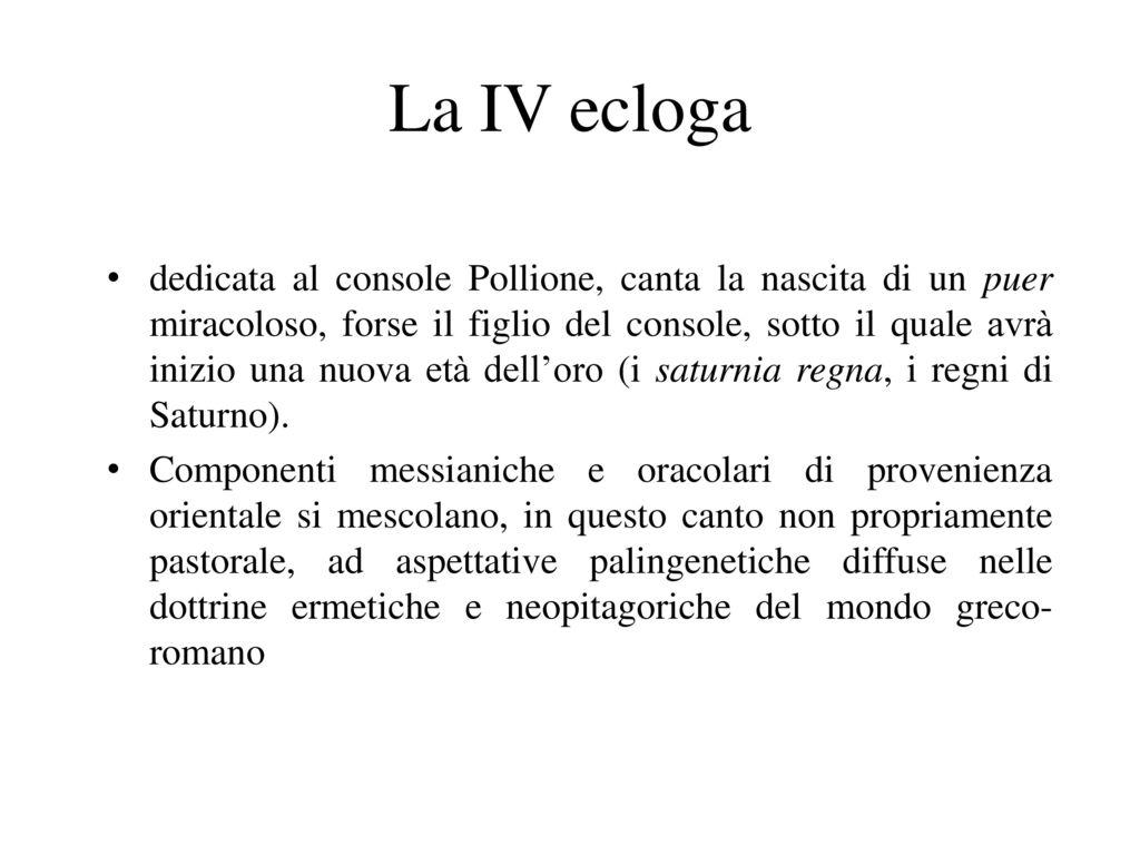 La IV ecloga
