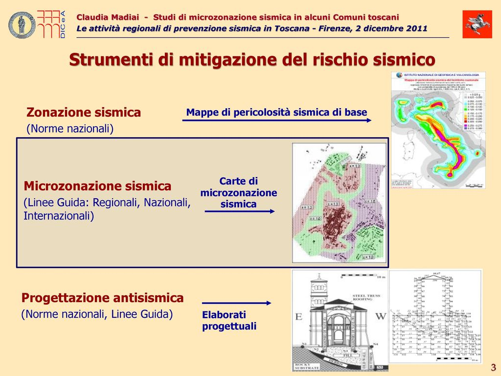 studi di microzonazione sismica in alcuni comuni toscani