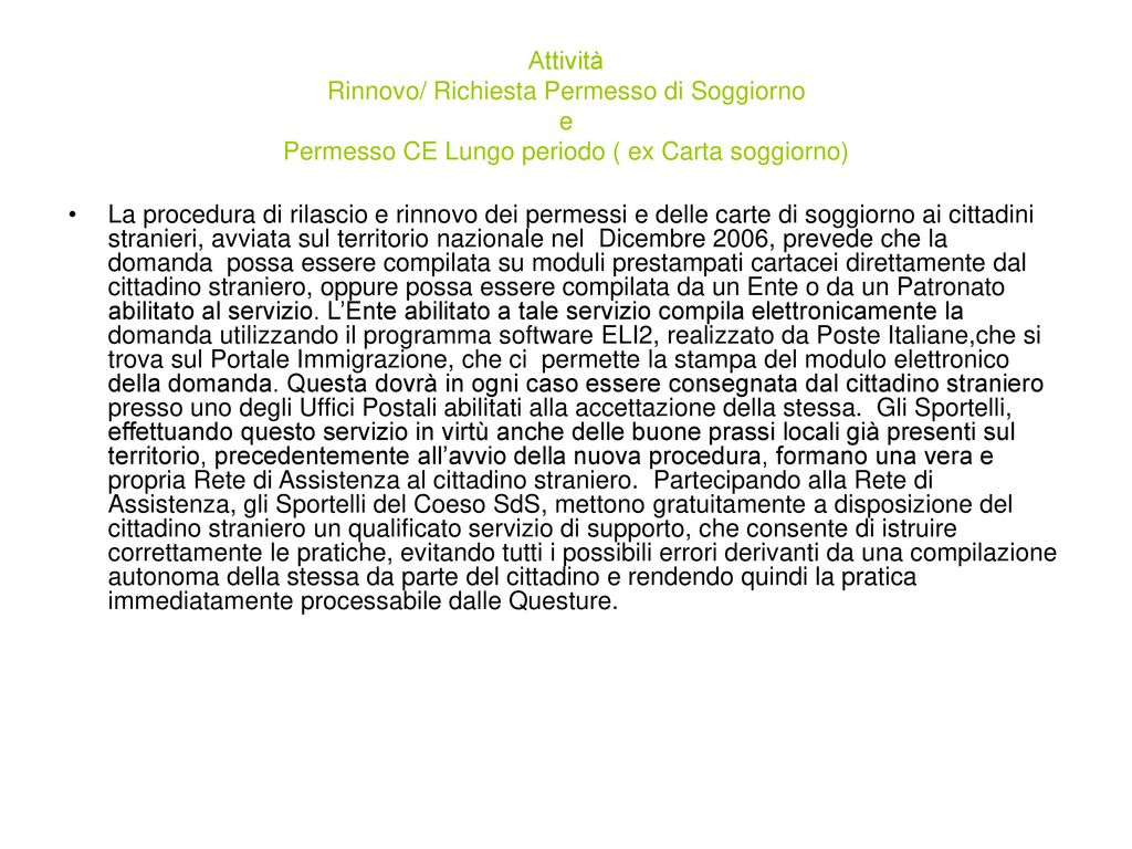 Best Richiesta Carta Soggiorno Contemporary - Amazing Design Ideas ...