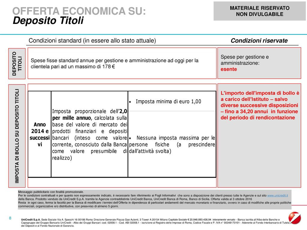 Materiale riservato non divulgabile ppt scaricare - Unicredit roma via specchi ...