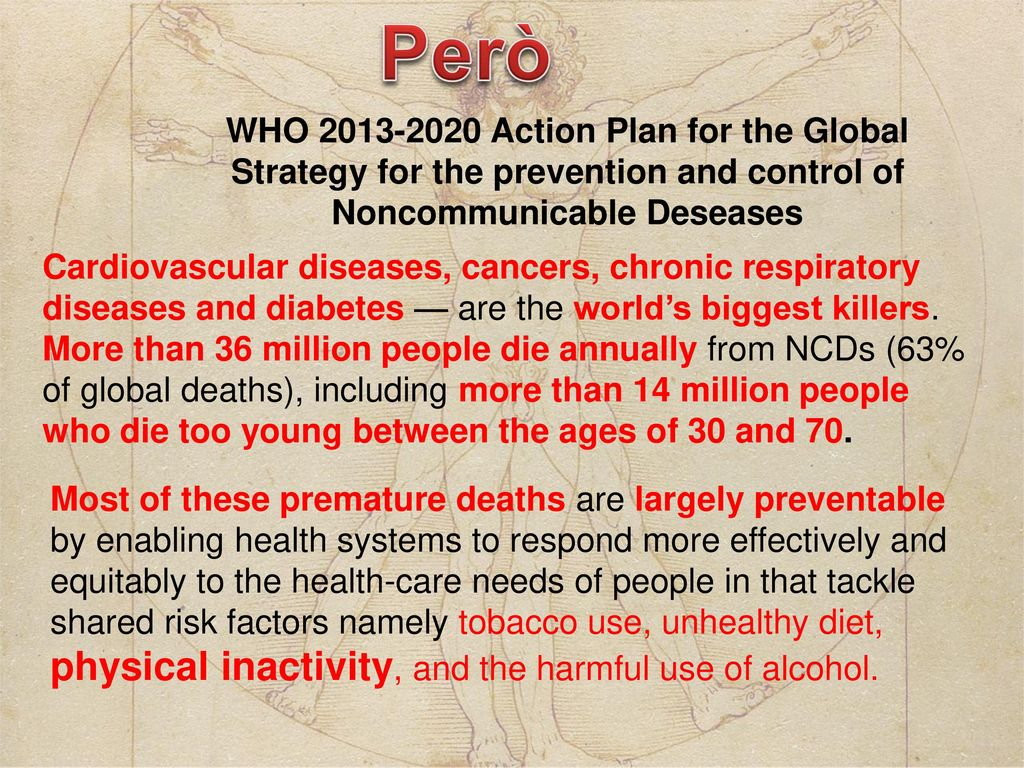 La promozione dell attivit fisica ppt scaricare - Healthy people 2020 is a plan designed to ...
