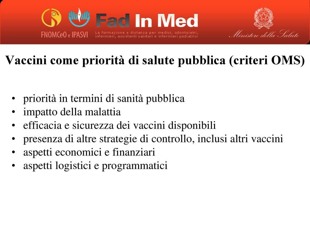 Vaccinazioni ppt scaricare for Planimetrie efficienti in termini di costi