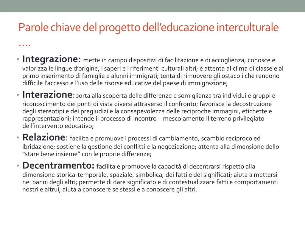 Pedagogia interculturale ppt scaricare - Parole con significati diversi ...