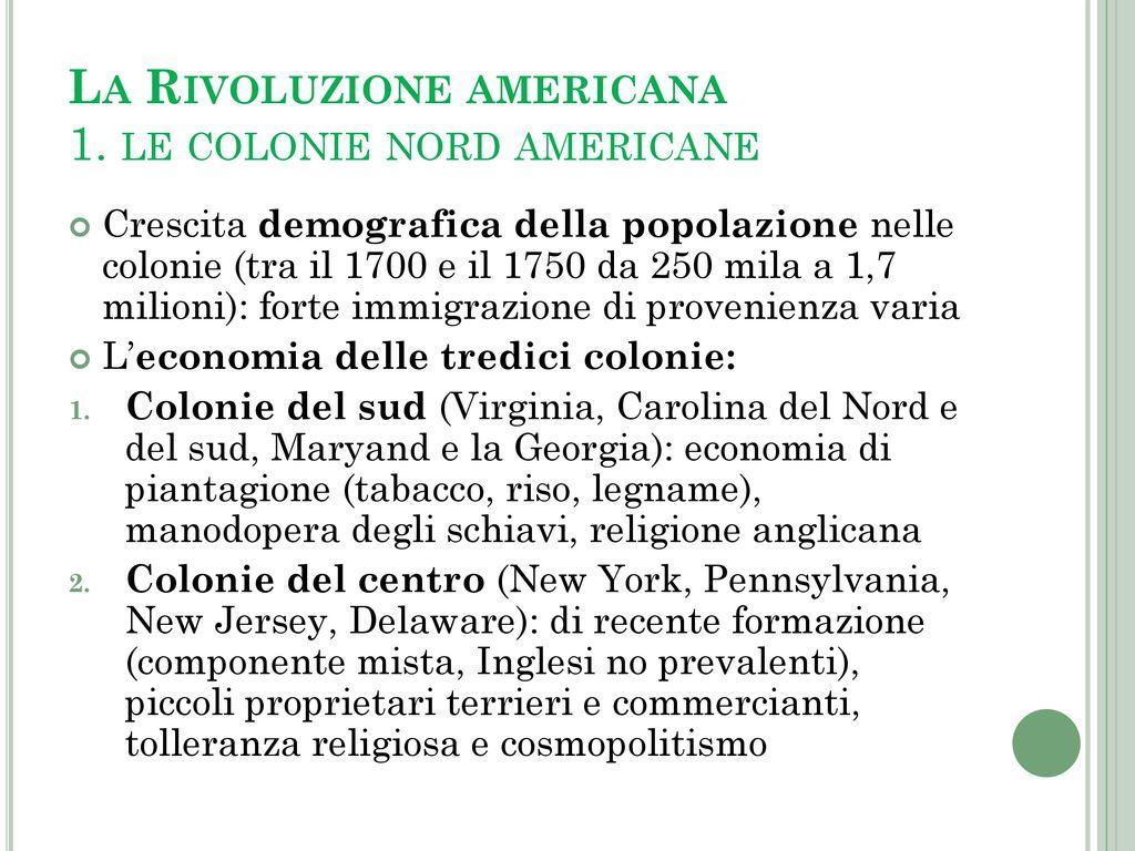 L impero britannico e la rivoluzione americana ppt video for Cabina nelle montagne della carolina del nord
