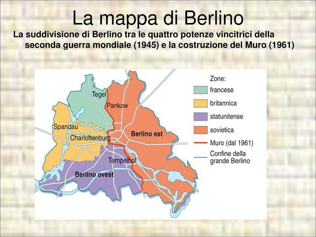 Pianta Muro Berlino : Il muro di berlino la grande storia e le microstorie