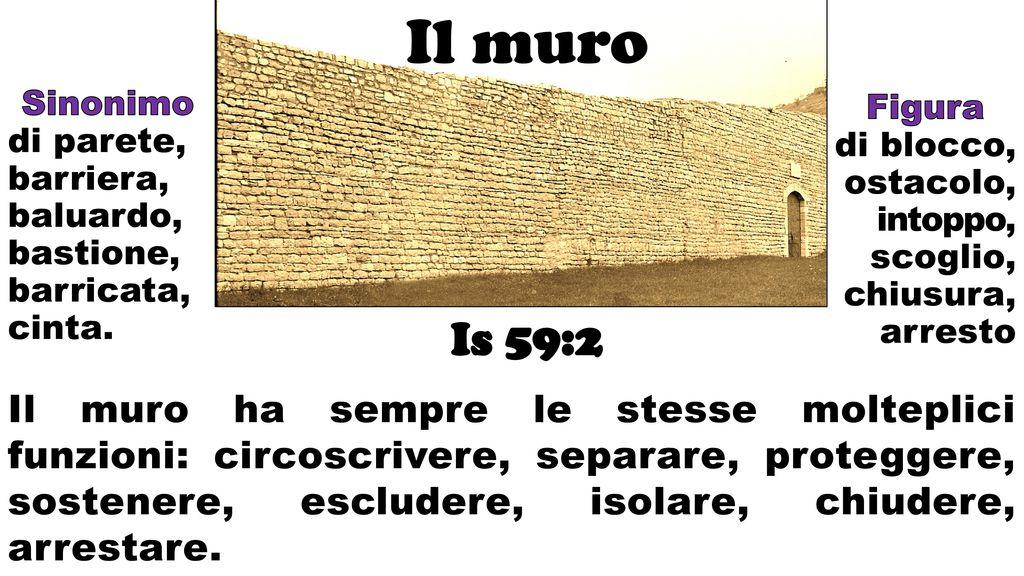Il muro sinonimo di parete barriera baluardo bastione - Sinonimo di diversi ...