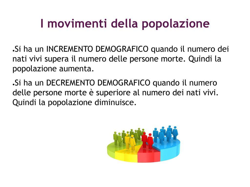 I movimenti della popolazione