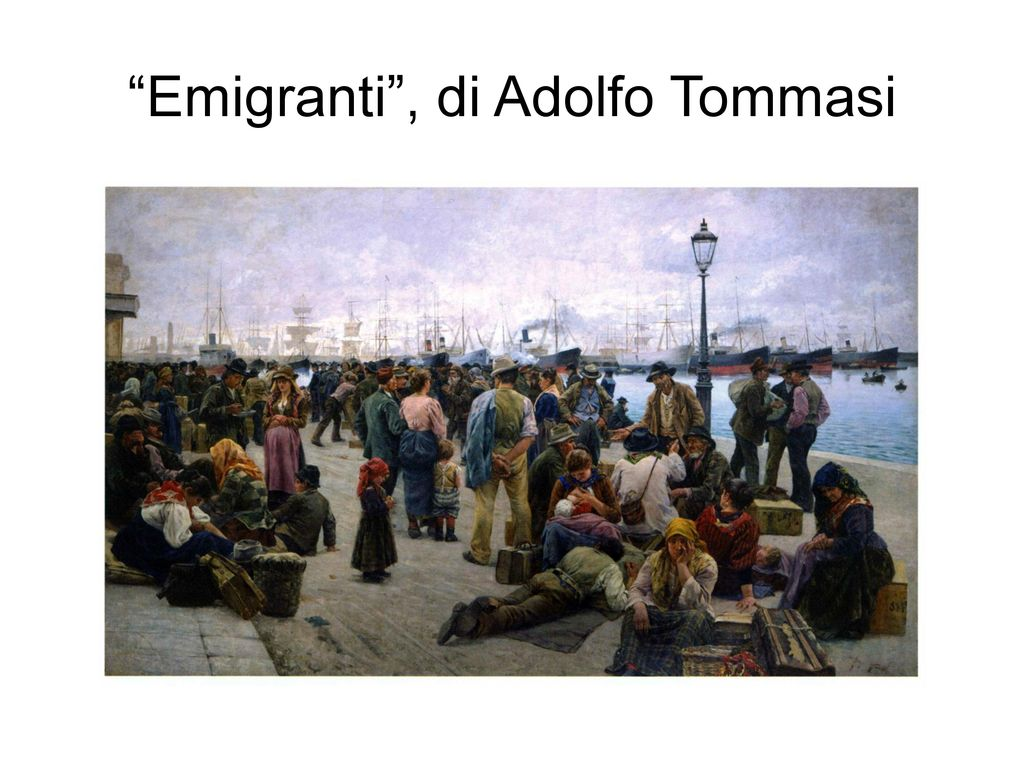 Emigranti , di Adolfo Tommasi