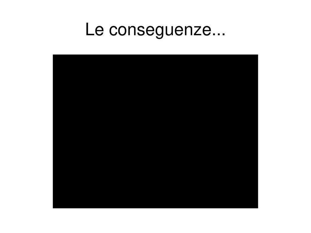 Le conseguenze...