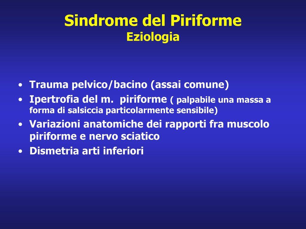Sindrome del Piriforme Eziologia