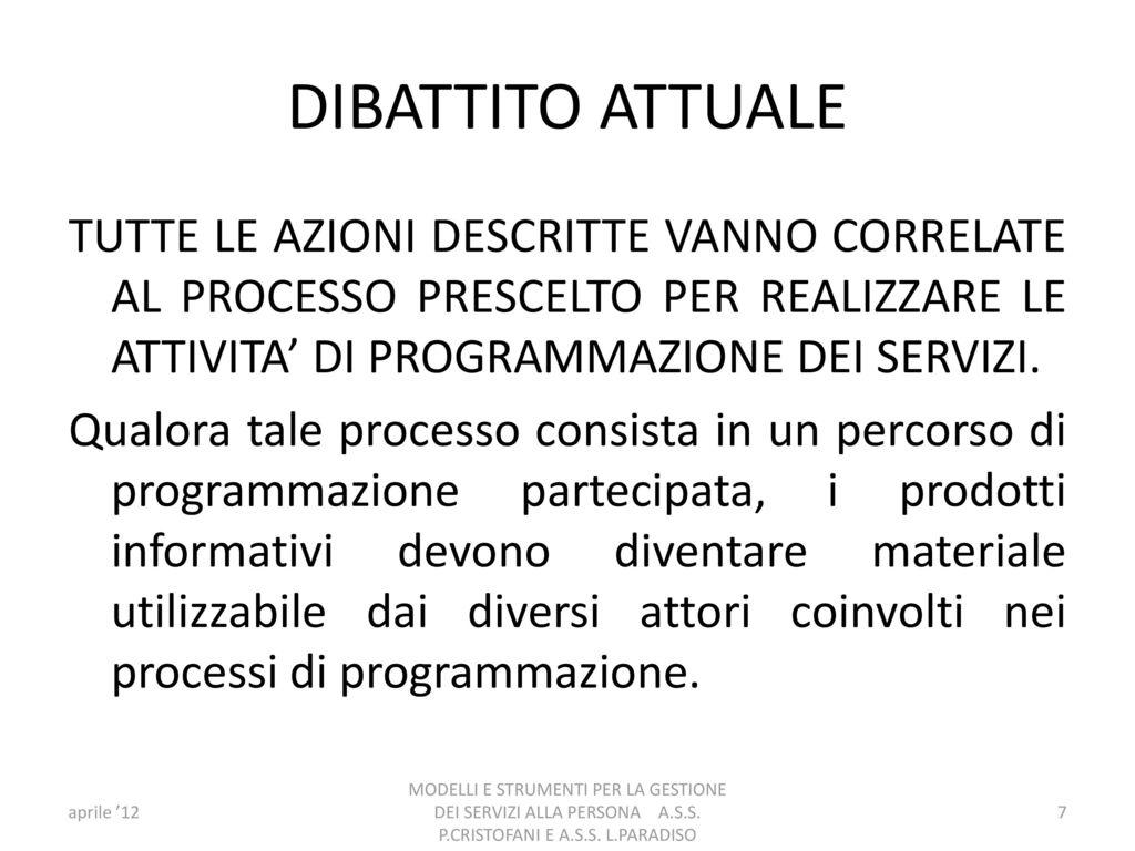 L 241 del 7 agosto 1990 ai sensi dell art 8 comma 3 for Programmazione e gestione dei servizi educativi