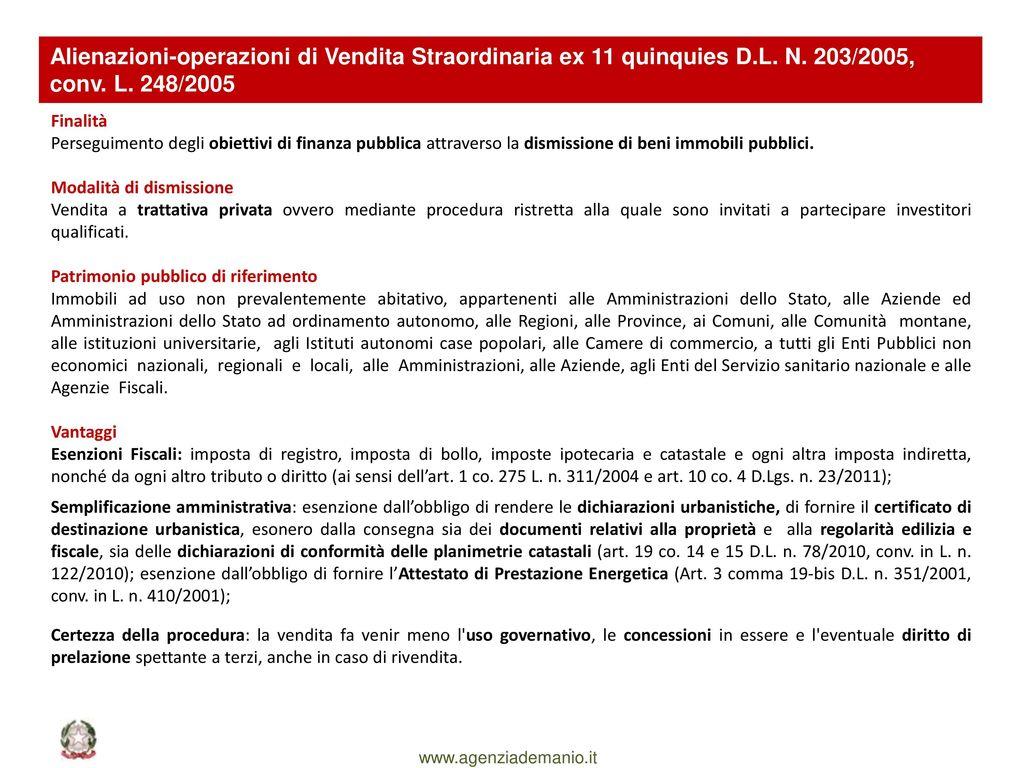 Il ruolo del demanio a supporto degli enti territoriali - Detrazioni fiscali in caso di vendita immobile ...