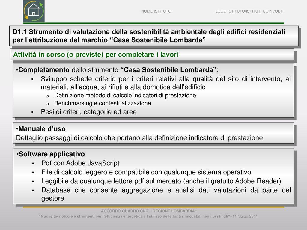 Accordo quadro cnr regione lombardia ppt scaricare for Software di progettazione di edifici domestici