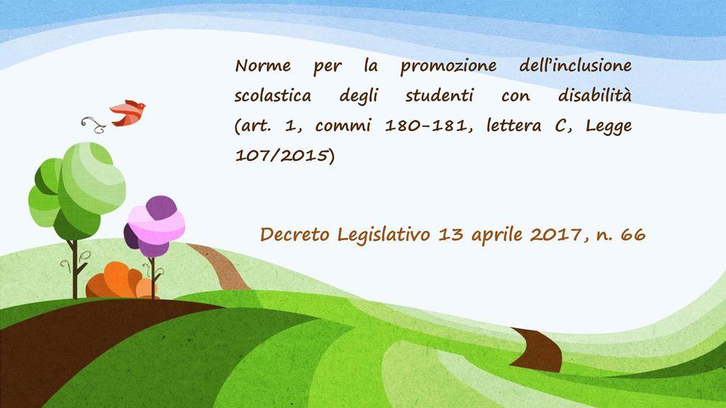 Decreto Legislativo 13 aprile 2017, n. 66