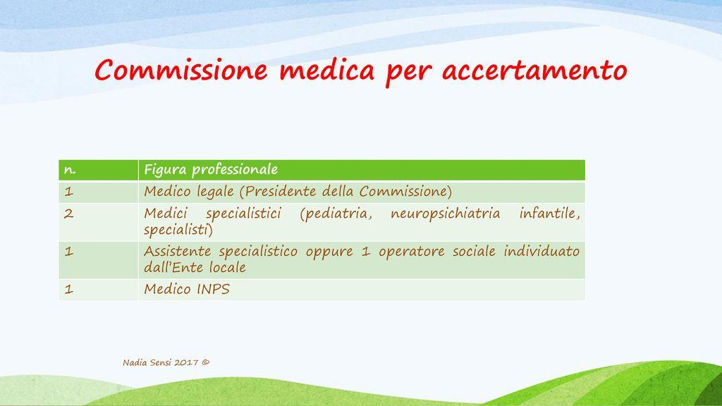 Commissione medica per accertamento